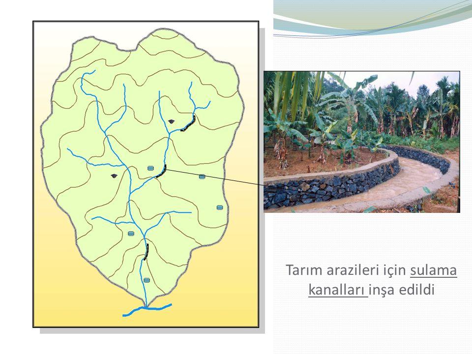 Tarım arazileri için sulama kanalları inşa edildi