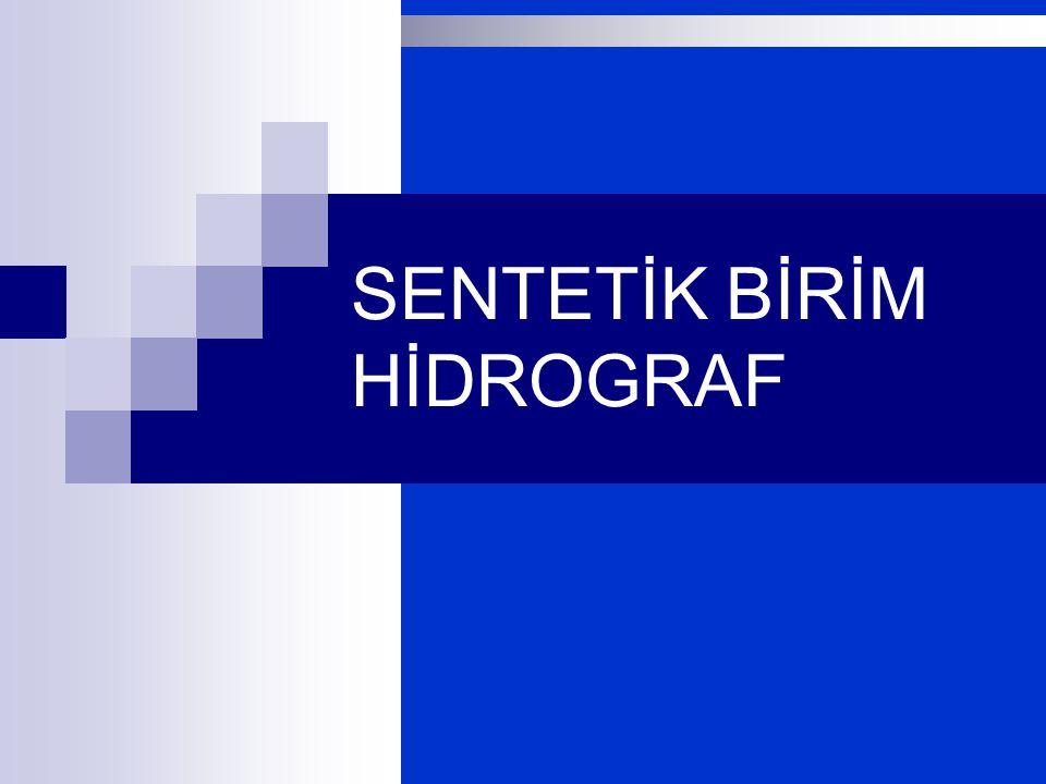 SENTETİK BİRİM HİDROGRAF