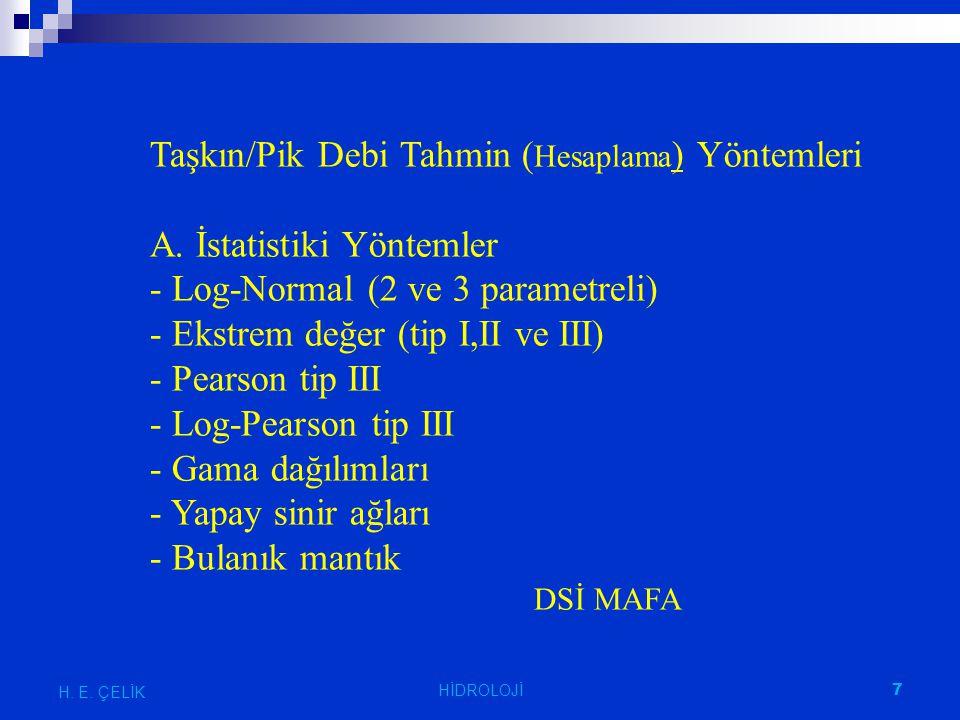 Mockus Yöntemi H. E. ÇELİK 48 HİDROLOJİ