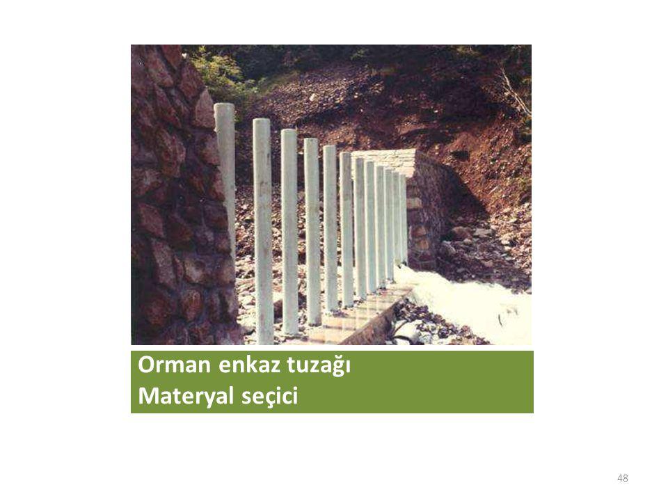 Orman enkaz tuzağı Materyal seçici 48