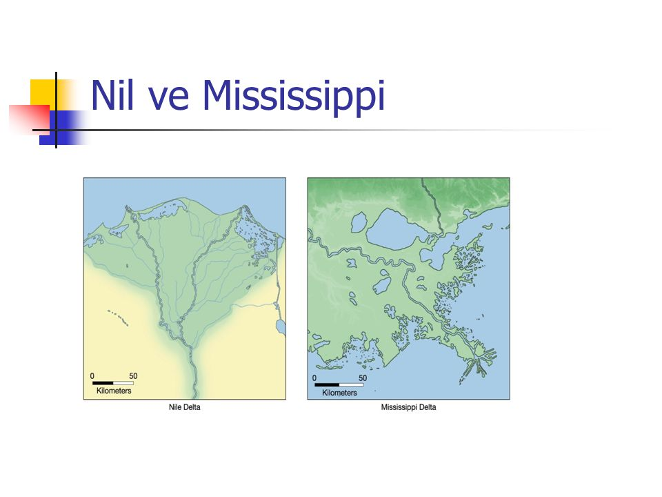 Nil ve Mississippi