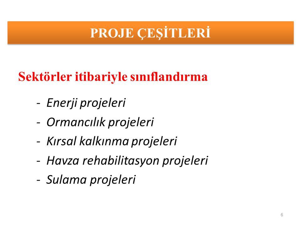 ORMANCILIK PROJELERİNE ÖRNEKLER -Ağaçlandırma projeleri -Erozyon kontrolu projeleri -Odun dışı orman ürünleri projeleri -Eko-turizm projeleri -Orköy projeleri -Orman sanayi projeleri -Havza Avan Projeleri -Bölge Müdürlüğü projeleri (OGM/AGM) 7