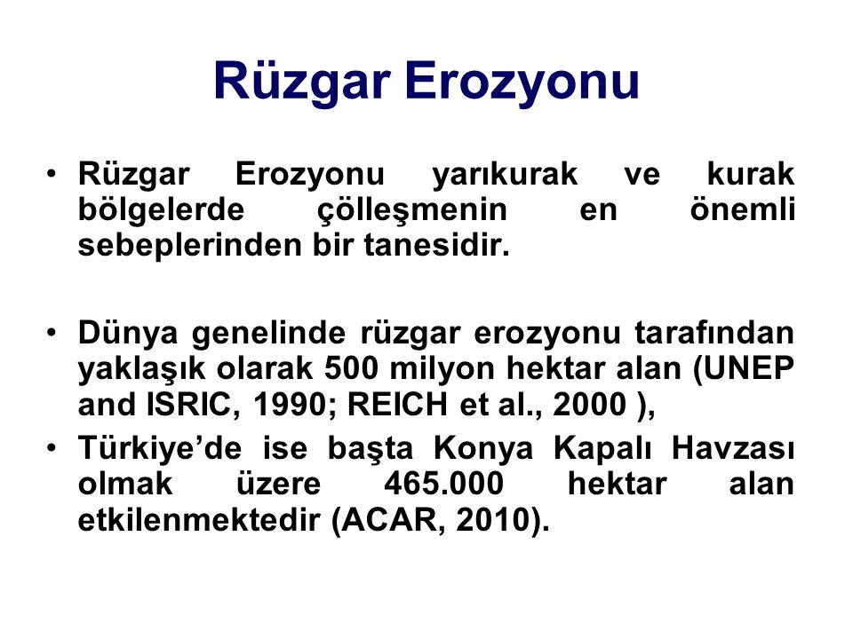 Değerlendirme Karapınar Türkiye'de rüzgar erozyonun etkilediği alanlar belirlenmelidir.