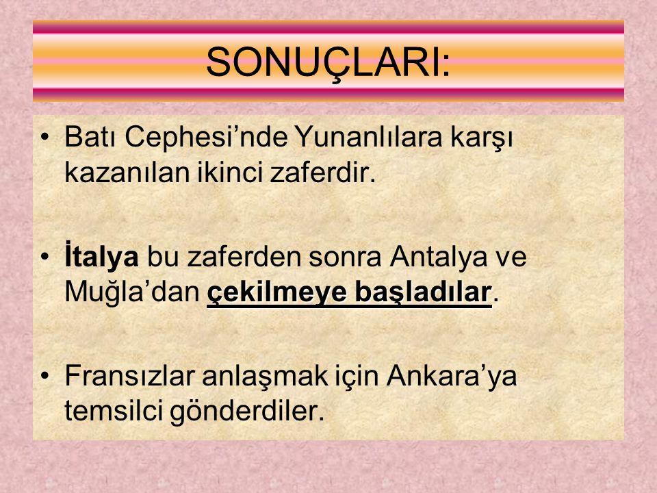 İKİNCİ İNÖNÜ SAVAŞI 23 MART-01 NİSAN 1921 I.