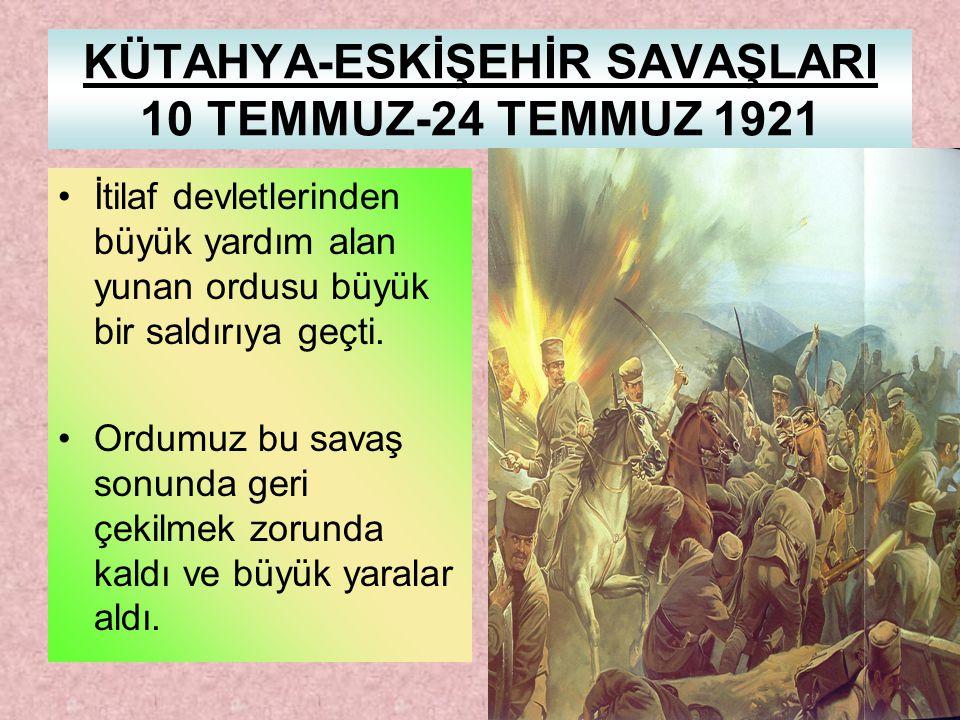 SONUÇLARI: Batı Cephesi'nde Yunanlılara karşı kazanılan ikinci zaferdir. çekilmeye başladılarİtalya bu zaferden sonra Antalya ve Muğla'dan çekilmeye b