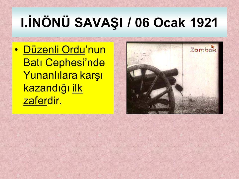 Tüm zorluklara ve sıkıntılara rağmen Türk ordusu yunan ordusunu geri püskürttü.