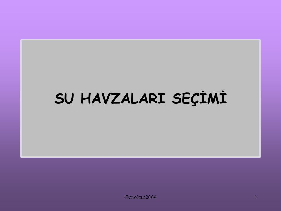 SU HAVZALARI SEÇİMİ ©cnokan20091