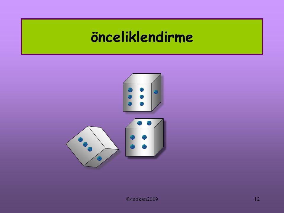önceliklendirme ©cnokan200912