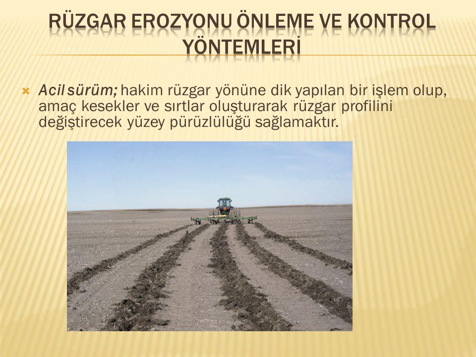  Öncelikle o bölge için tolere edilebilir toprak kayıpları miktarını (ton/ha/yıl) belirle  Potansiyel toprak kayıpları miktarını (ton/ha yıl) hesapla  Tolere edilebilir toprak kayıpları miktarını sağlayacak kontrol yöntemini seç