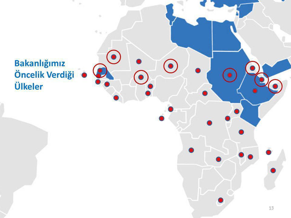 TİKA'nın Koordinatörlükleri Bakanlığımız Öncelik Verdiği Ülkeler 13