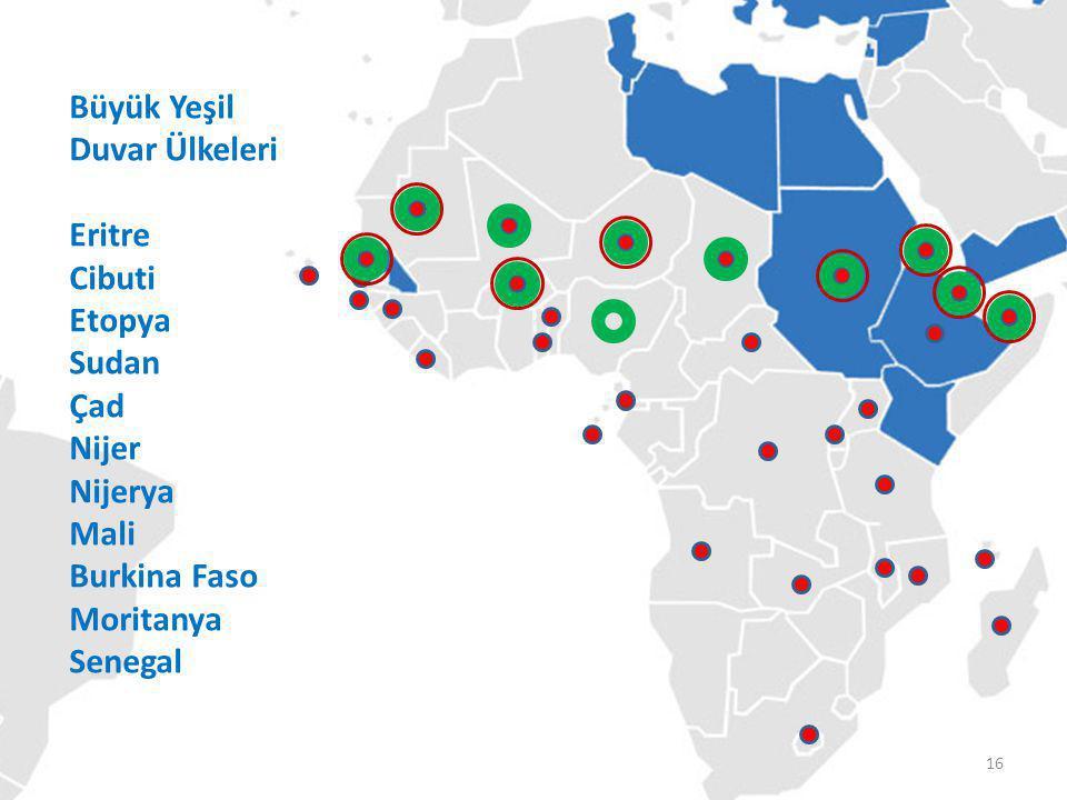 TİKA'nın Koordinatörlükleri Büyük Yeşil Duvar Ülkeleri Eritre Cibuti Etopya Sudan Çad Nijer Nijerya Mali Burkina Faso Moritanya Senegal 16