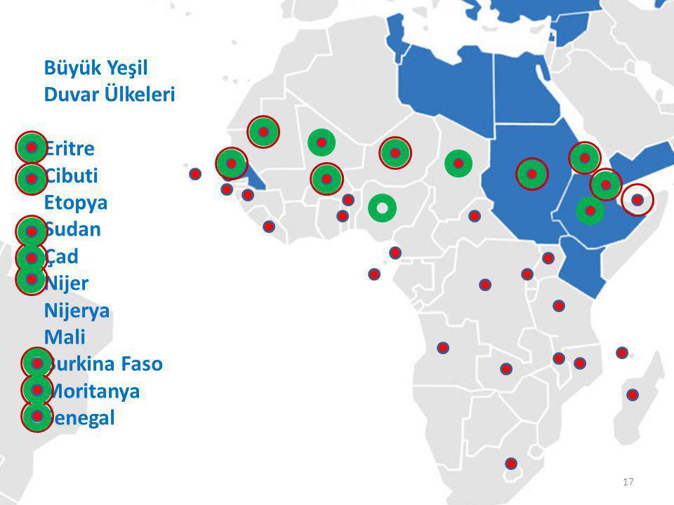 TİKA'nın Koordinatörlükleri Büyük Yeşil Duvar Ülkeleri Eritre Cibuti Etopya Sudan Çad Nijer Nijerya Mali Burkina Faso Moritanya Senegal 17