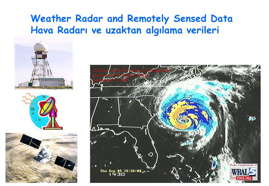 Weather Radar and Remotely Sensed Data Hava Radarı ve uzaktan algılama verileri