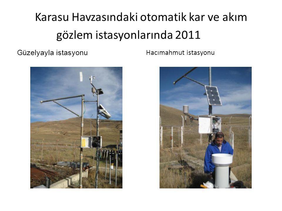 Karasu Havzasındaki otomatik kar ve akım gözlem istasyonlarında 2011 Güzelyayla istasyonu Hacımahmut istasyonu