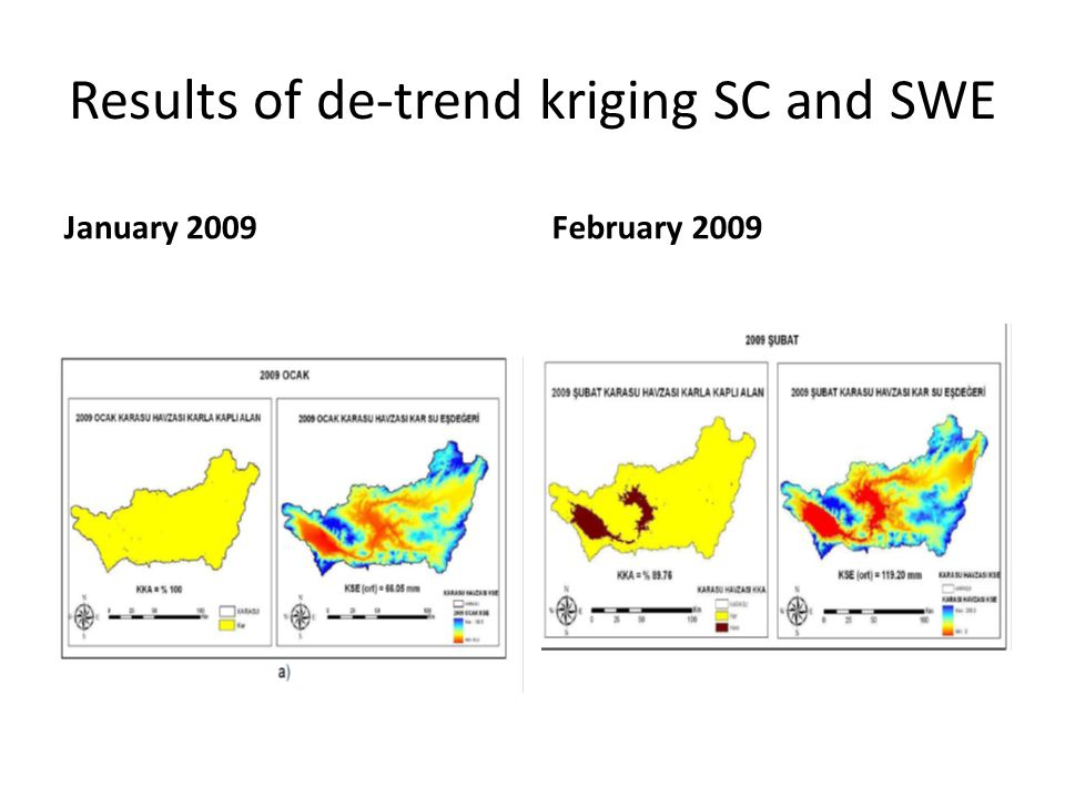 Results of de-trend kriging SC and SWE January 2009February 2009