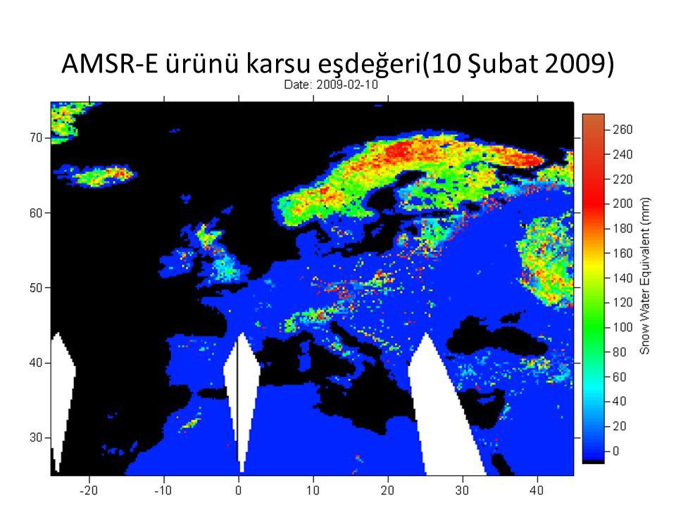 AMSR-E ürünü karsu eşdeğeri(10 Şubat 2009)