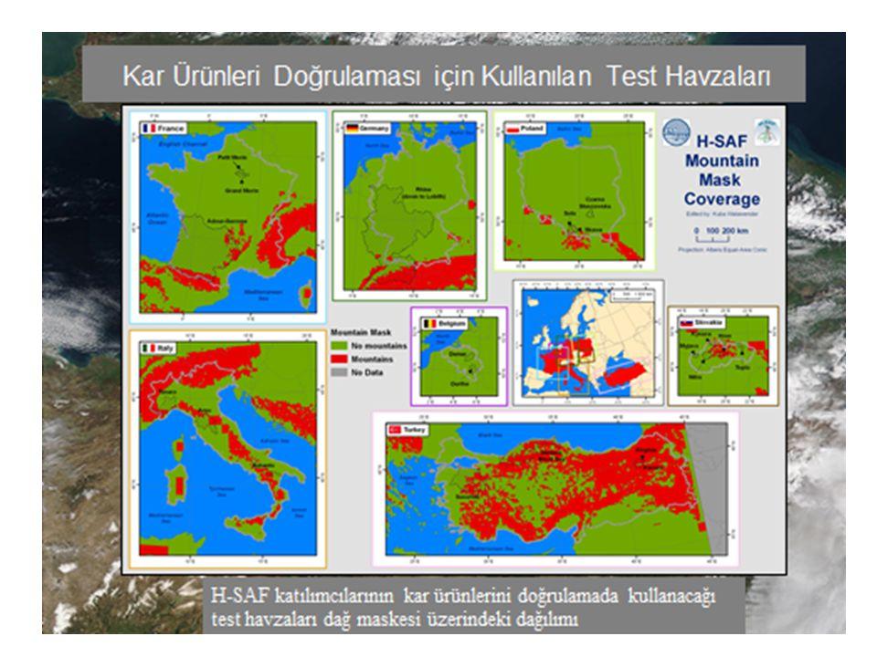 Karasu Havzası 2010 su yılı MODIS (Harmanlanmış) karla kaplı alan görüntüleri 1 Mart 201014 Nisan 2010