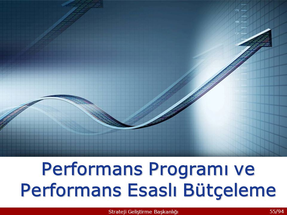 55/94 Strateji Geliştirme Başkanlığı Performans Programı ve Performans Esaslı Bütçeleme