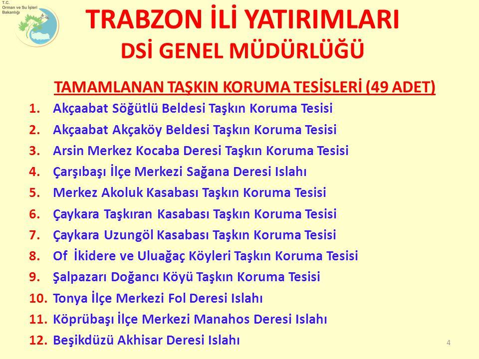 BAYBURT İLİ YATIRIMLARI Bayburt iline 2003-2011 yılları arası 20 km yeni yol yapılmıştır.