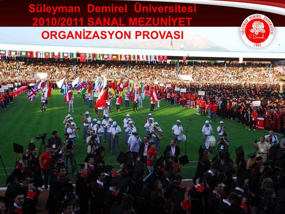 Süleyman Demirel Üniversitesi 2010/2011 SANAL MEZUNİYET ORGANİZASYON PROVASI