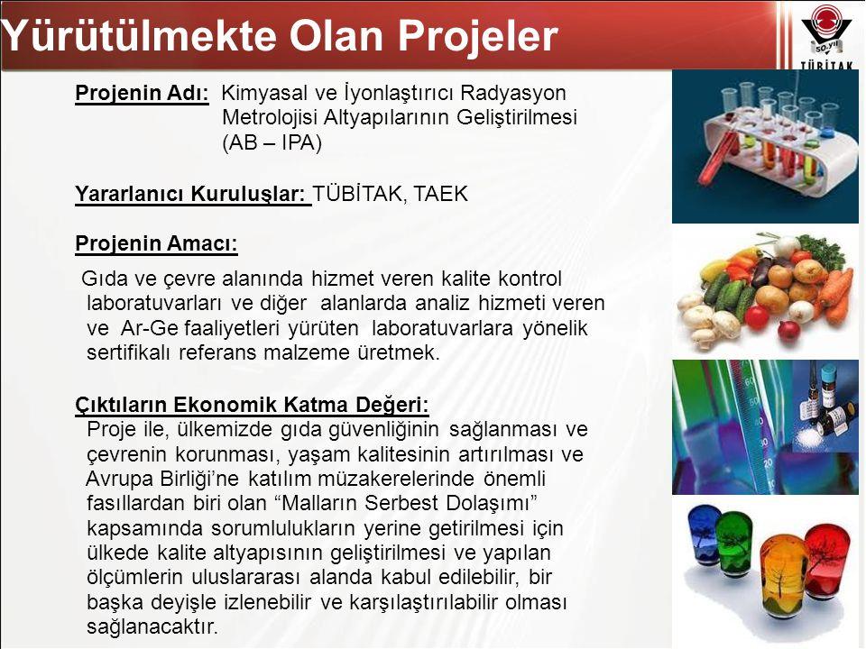 Asıl başlık stili için tıklatın 28 Projenin Adı: Kimyasal ve İyonlaştırıcı Radyasyon Metrolojisi Altyapılarının Geliştirilmesi (AB – IPA) Yararlanıcı