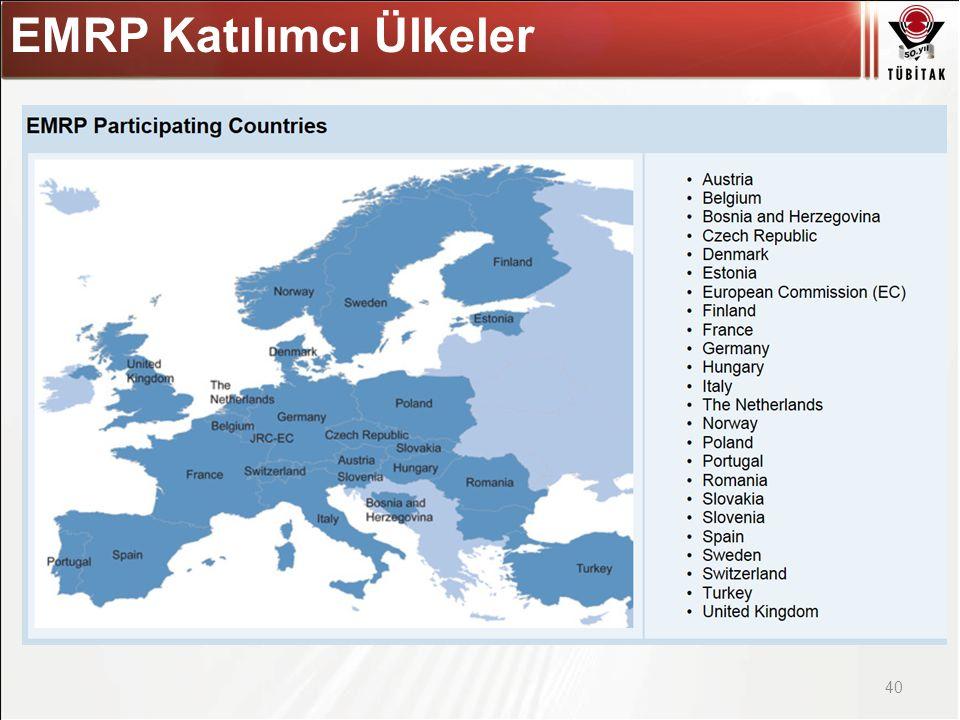 Asıl başlık stili için tıklatın 40 EMRP Katılımcı Ülkeler