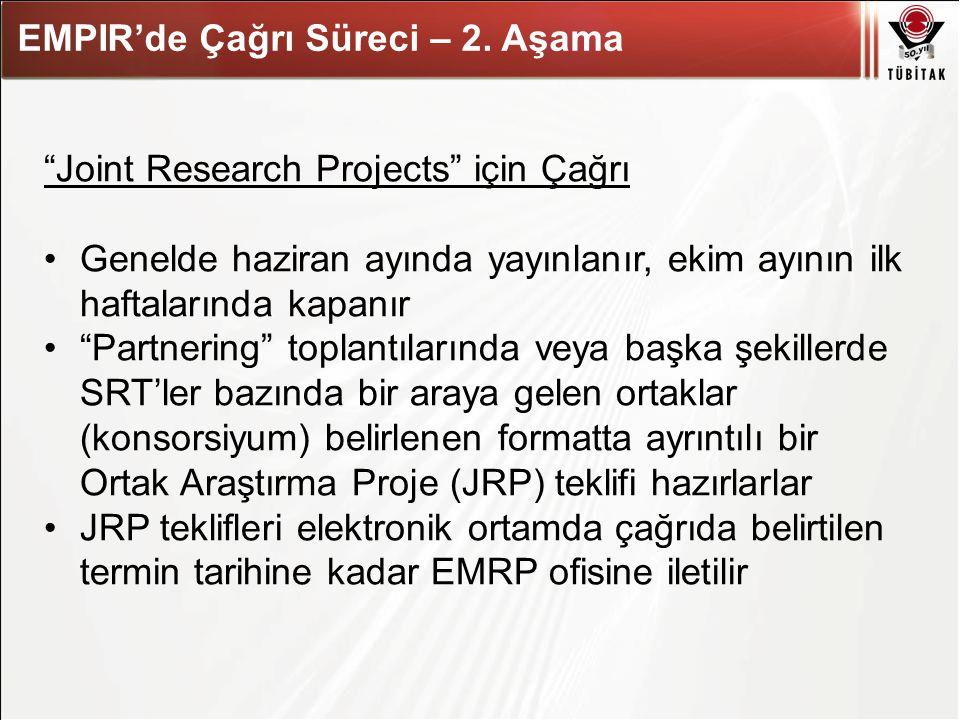 """Asıl başlık stili için tıklatın EMPIR'de Çağrı Süreci – 2. Aşama """"Joint Research Projects"""" için Çağrı Genelde haziran ayında yayınlanır, ekim ayının i"""