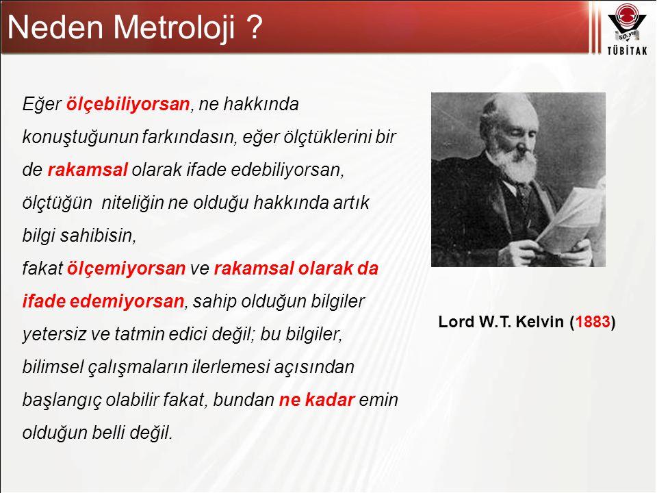 Asıl başlık stili için tıklatın Neden Metroloji ? Eğer ölçebiliyorsan, ne hakkında konuştuğunun farkındasın, eğer ölçtüklerini bir de rakamsal olarak