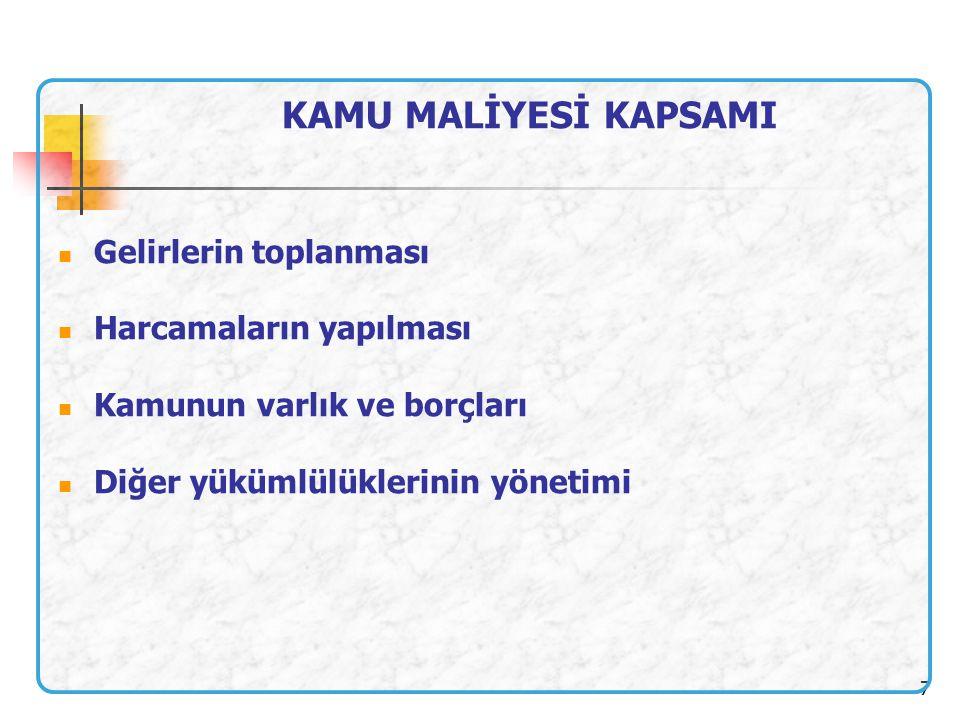18 BAKANLAR Bakanlar, kamu kaynaklarının etkili, ekonomik ve verimli kullanılması ile hukuki ve mali konularda Başbakana ve Türkiye Büyük Millet Meclisine karşı sorumludurlar.