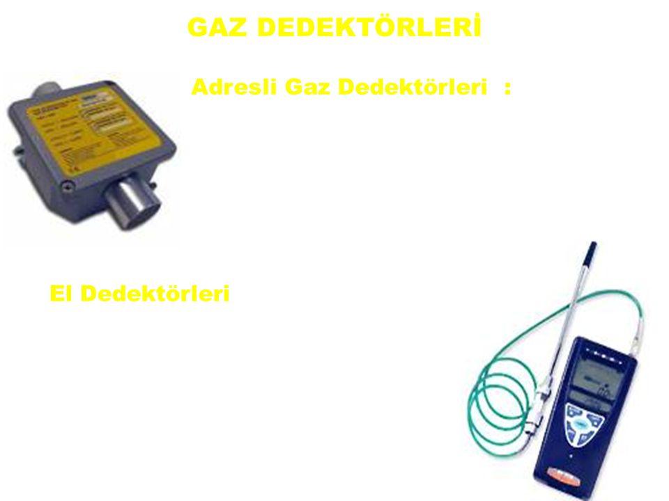 GAZ DEDEKTÖRLERİ Adresli Gaz Dedektörleri : Metan-Bütan- Petrol buharı- Karbonmonoksit- Hidrojen-Propan- Asetilen ve LPG gazlarını algılamaktadırlar.