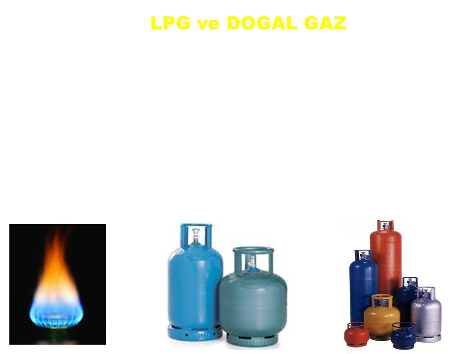 LPG ve DOGAL GAZ LPG sıvı petrol gazı da dediğimiz bu gaz petrolün yan ürünüdür. Doğalgaz ise krojenleşme ve ışıl ayrışması sonucu oluşan çoğunluğu me