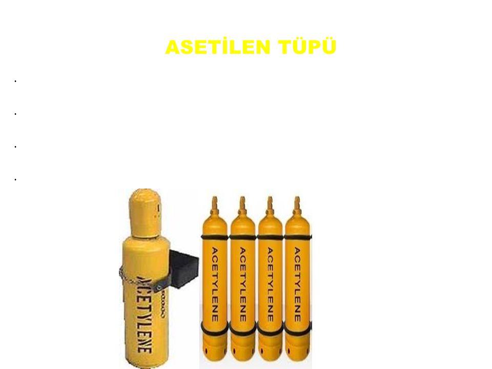 Asetilen tüpü, asetilen gazının depolanması ve taşınmasında kullanılır. Asetilen tüpü dikişsiz veya kaynaklı olarak yapılır. Asetilen tüpleri 3-5 ve 1