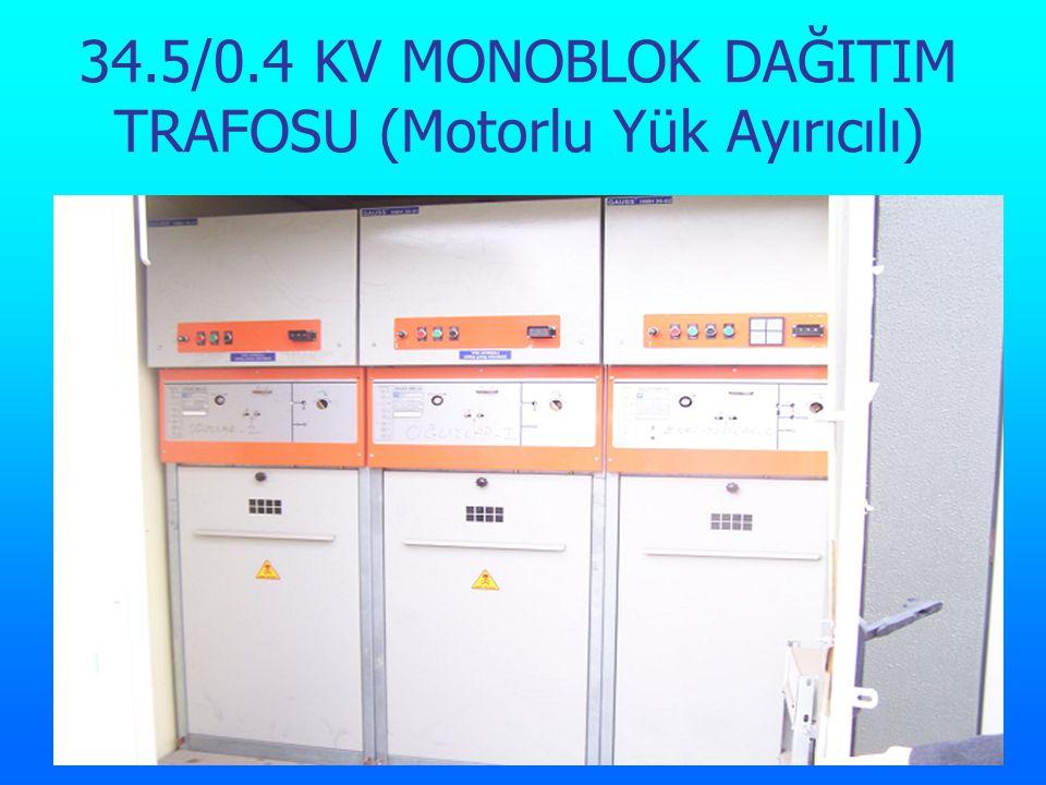 34.5/0.4 KV MONOBLOK DAĞITIM TRAFOSU (Motorlu Yük Ayırıcılı)