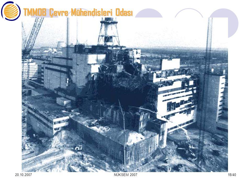 TMMOB Çevre Mühendisleri Odası 20.10.2007NÜKSEM 200718/40