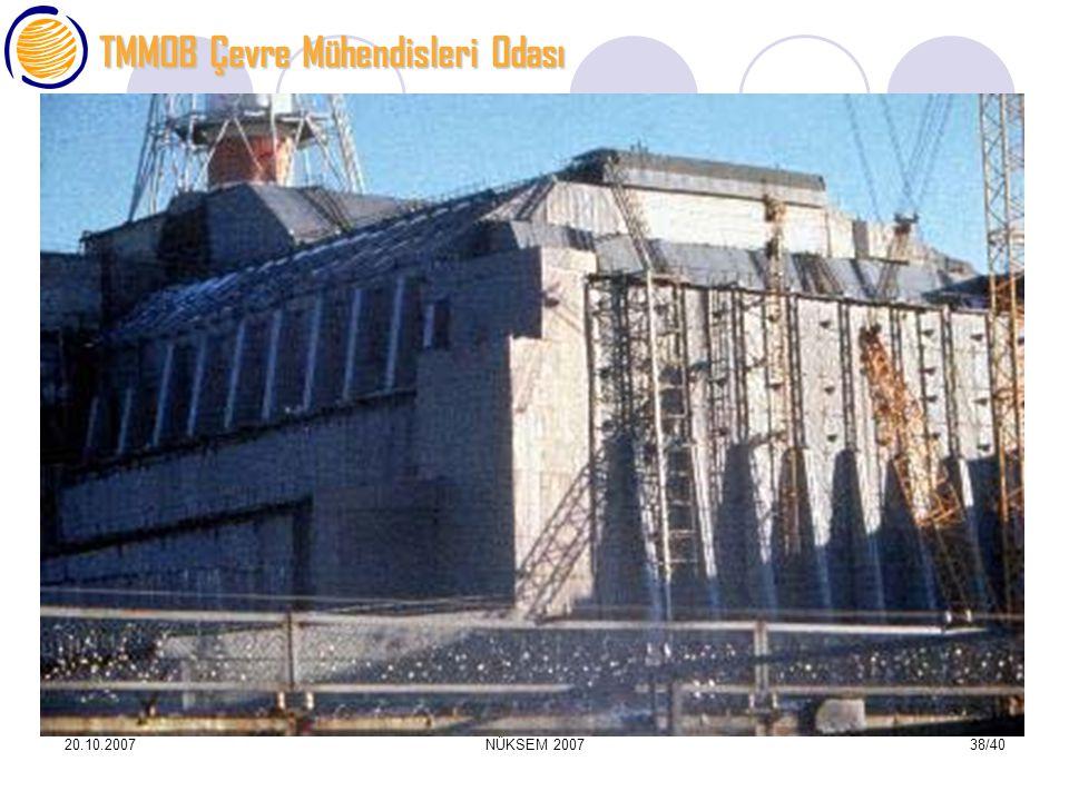 TMMOB Çevre Mühendisleri Odası 20.10.2007NÜKSEM 200738/40