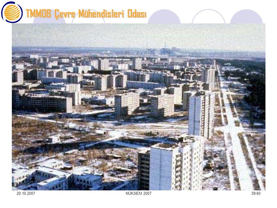 TMMOB Çevre Mühendisleri Odası 20.10.2007NÜKSEM 200739/40