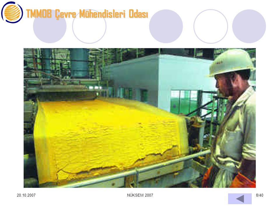 TMMOB Çevre Mühendisleri Odası 20.10.2007NÜKSEM 20078/40