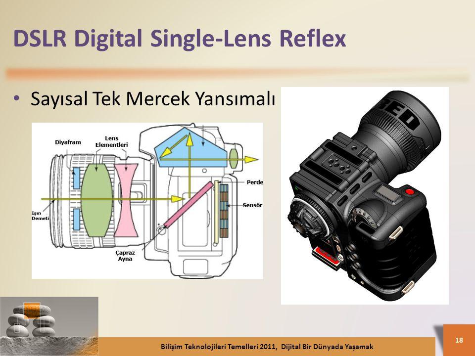 DSLR Digital Single-Lens Reflex Sayısal Tek Mercek Yansımalı Bilişim Teknolojileri Temelleri 2011, Dijital Bir Dünyada Yaşamak 18