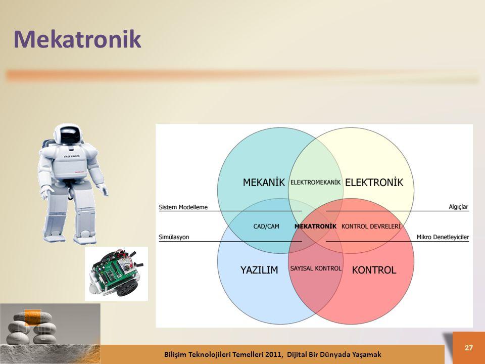 Mekatronik Bilişim Teknolojileri Temelleri 2011, Dijital Bir Dünyada Yaşamak 27