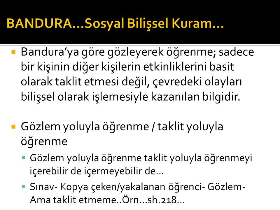  GÖZLEM YOLUYLA ÖĞRENME SÜREÇLERİ  2.