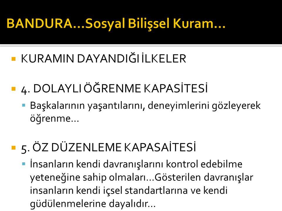  KURAMIN DAYANDIĞI İLKELER  4.