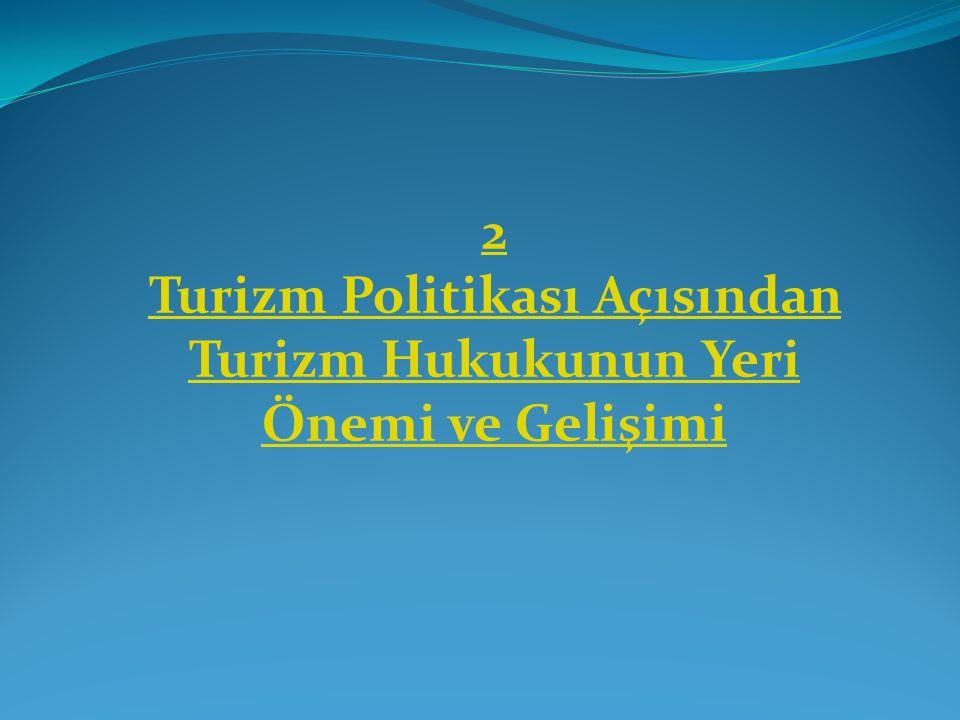 2 Turizm Politikası Açısından Turizm Hukukunun Yeri Önemi ve Gelişimi