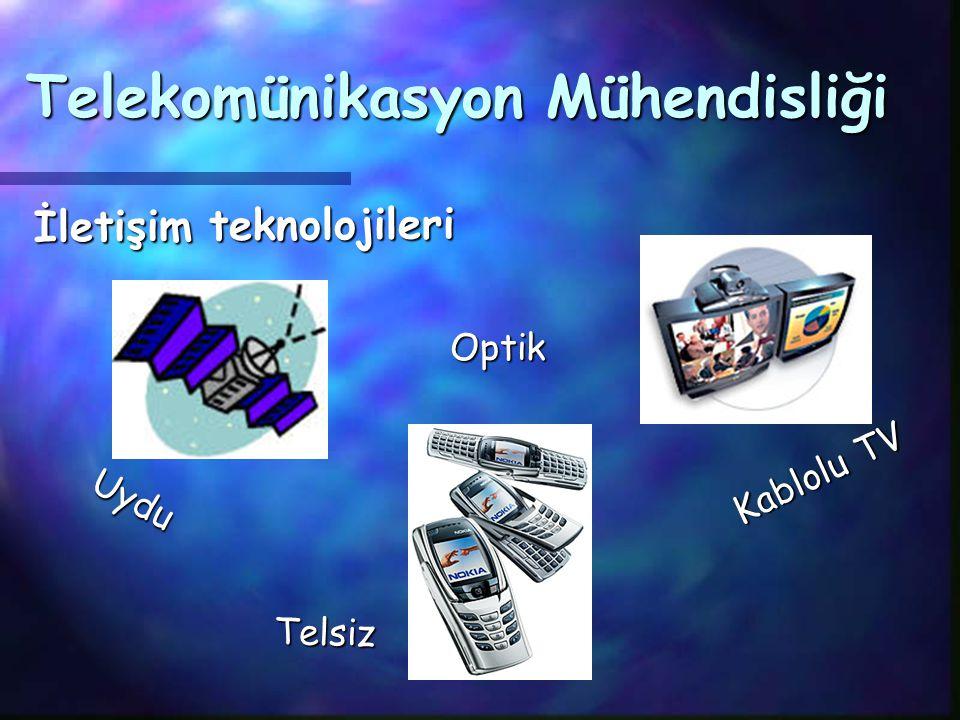 Optik İletişim teknolojileri Kablolu TV Uydu Telekomünikasyon Mühendisliği Telsiz