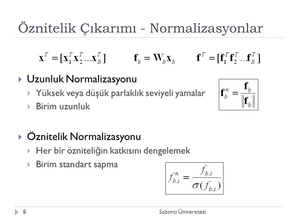 Sınıflandırma  En yakın komşu sınıflandırıcısı  Yüz imgelerinden elde edilen veri seyrek oldu ğ undan, e ğ itim verisinin yapısını temsil eden istatistiksel model oluşturmak zordur.