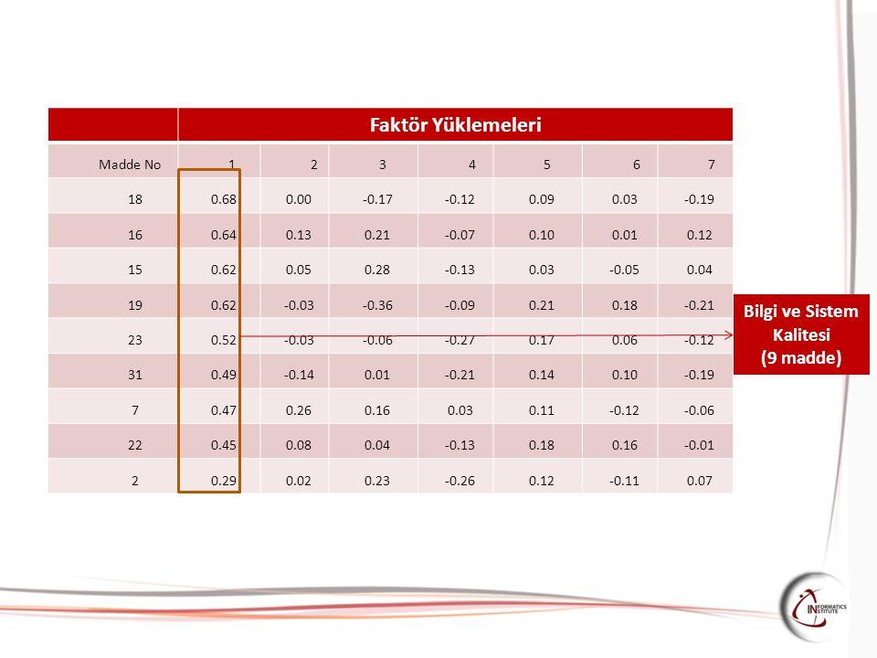 Faktör Yüklemeleri Madde No 1234567 18 0.680.00-0.17-0.120.090.03-0.19 16 0.640.130.21-0.070.100.010.12 15 0.620.050.28-0.130.03-0.050.04 19 0.62-0.03