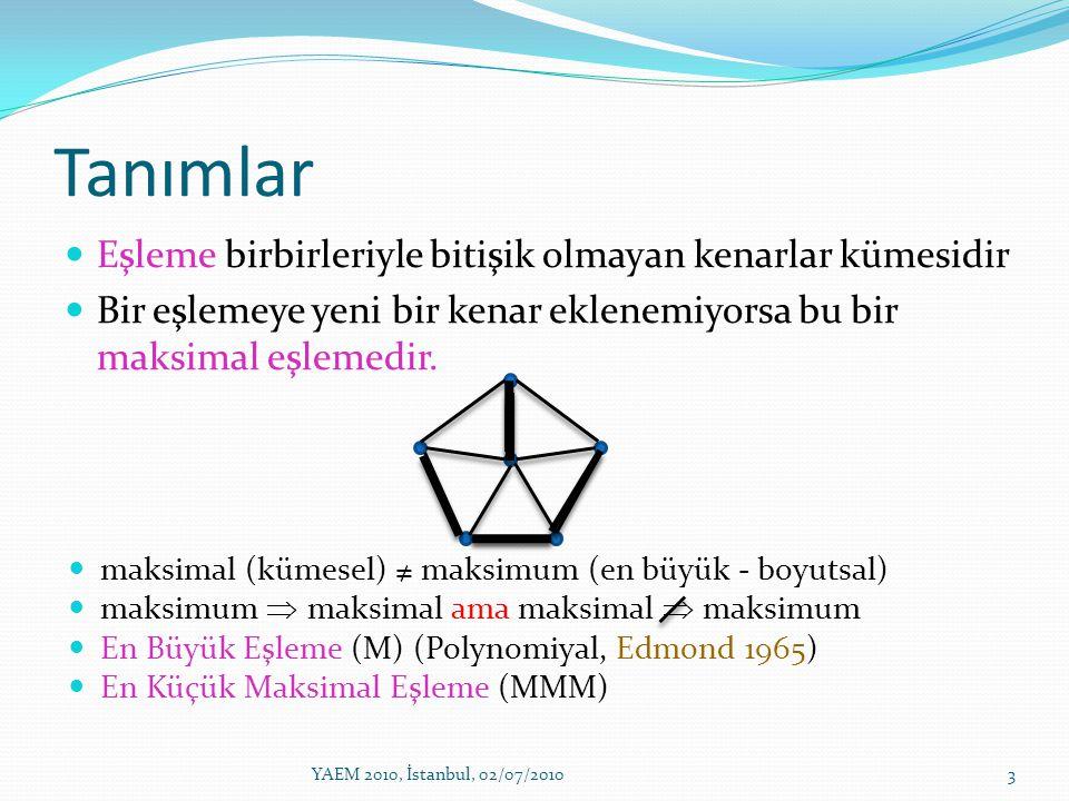 Telefon ağları aramalar bağlantı noktası 0 i araması j bağlantı noktasına yönlendirilebilir MMM= doymuş bir sistemin en kötü durumdaki davranışı 4YAEM 2010, İstanbul, 02/07/2010