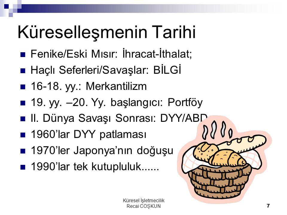 Küresel İşletmecilik Recai COŞKUN58 4.
