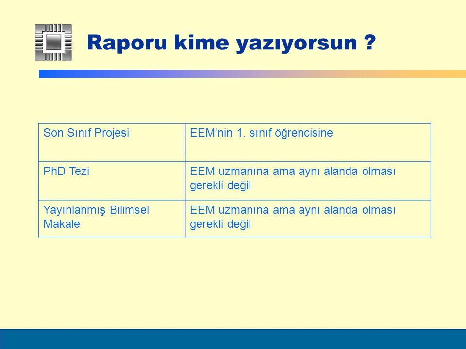 ELEC6021 Raporu kime yazıyorsun .Son Sınıf ProjesiEEM'nin 1.