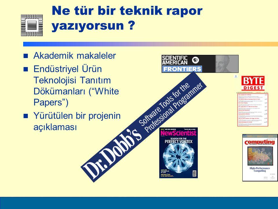 ELEC6021 Kaynak Araştırmaları (bitirme projesi raporlarında girişte) Raporun dar konusu ile ilgili olarak başka araştırmacıların neler keşfettiğini veya konu ile bağlantı ilgili araştırmaları içerir Araştırmanın dar konusu üzerine odaklanır Gereksiz bilgiler yazılmaz Okuyucunun bir konu hakkındaki düşüncesine şekil verir başka bilim adamları konu ve konu ile alakalı olarak ne diyorlar Konular ve alt-konular numaralandırılıp bölümler halinde verilebilir (Konuyu çok fazla alt-bölümlere ayırmadan) 2.1 …Ana konu 2.1.1...Alt-konular saw@ecs.soton.ac.uk