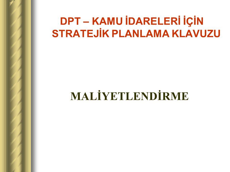 Maliyetlerin Dağıtımı MERSİN ÜNİVERSİTESİ STRATEJİK PLANLAMA ÇALIŞMASI 05.09.2006